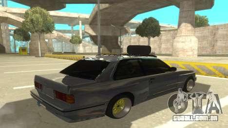BMW E30 1991 para GTA San Andreas vista direita