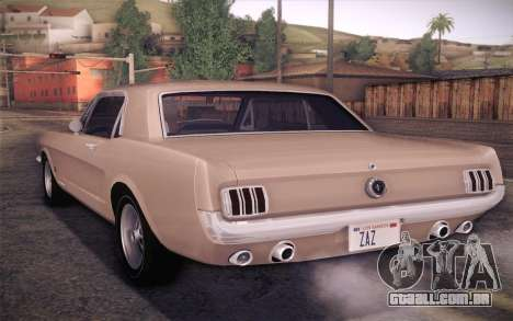 Ford Mustang GT 289 Hardtop Coupe 1965 para GTA San Andreas esquerda vista