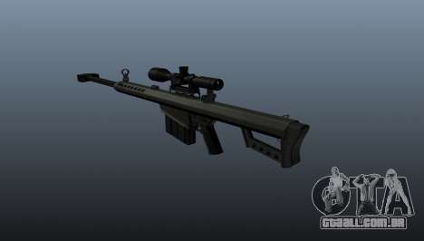 calibre. 50 sniper rifle para GTA 4 segundo screenshot