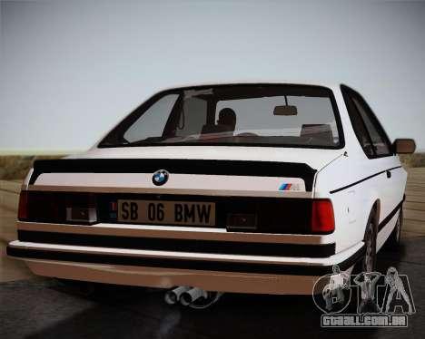 BMW E24 M635 1984 para GTA San Andreas vista traseira