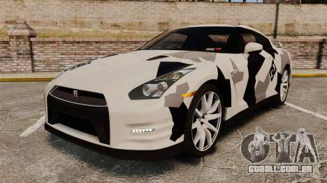 Nissan GT-R Black Edition 2012 Ski Slope Camo para GTA 4
