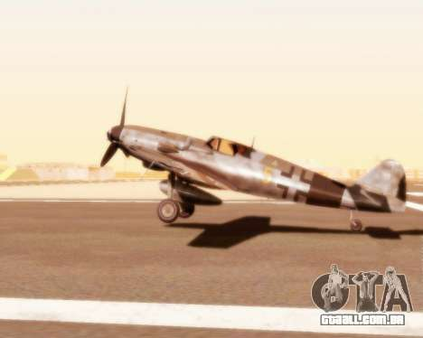 Bf-109 G10 para GTA San Andreas vista direita