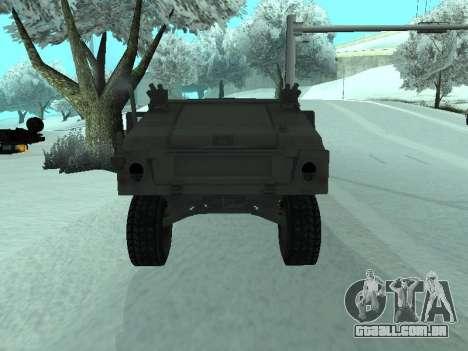 Hummer H1 do jogo Resident Evil 5 para GTA San Andreas vista traseira