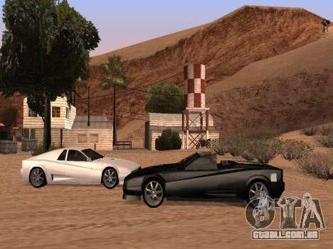 Sheetah Restyle para GTA San Andreas vista interior