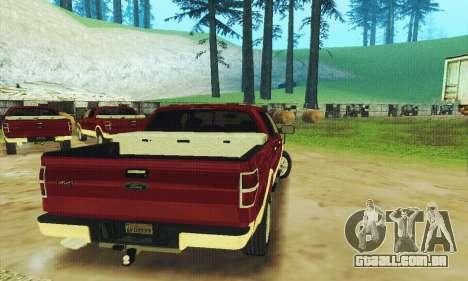 Ford F-150 KING RANCH Edition 2010 para GTA San Andreas vista inferior