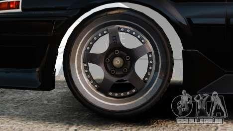Toyota Sprinter Trueno AE86 Drifting para GTA 4 vista de volta