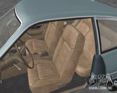 Ford Pinto 1973 para vista lateral GTA San Andreas