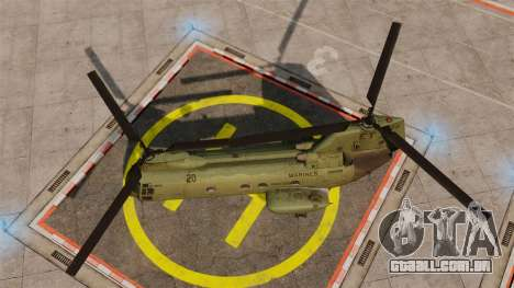 Boeing CH-46D Sea Knight para GTA 4 vista direita