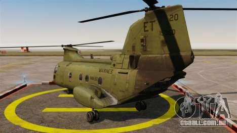 Boeing CH-46D Sea Knight para GTA 4 traseira esquerda vista