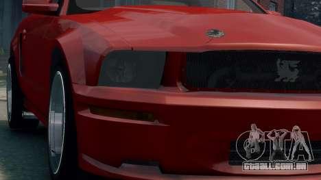 Shelby Terlingua Mustang para GTA 4 vista de volta