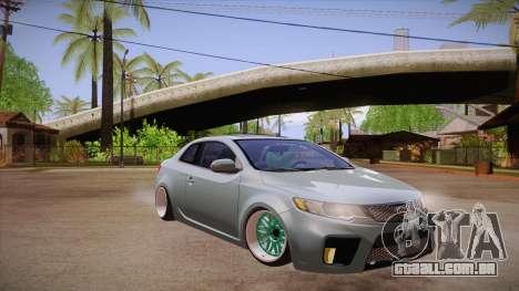 Kia Cerato para GTA San Andreas vista traseira