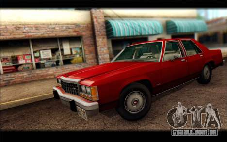 Ford LTD Crown Victoria 1987 para GTA San Andreas traseira esquerda vista
