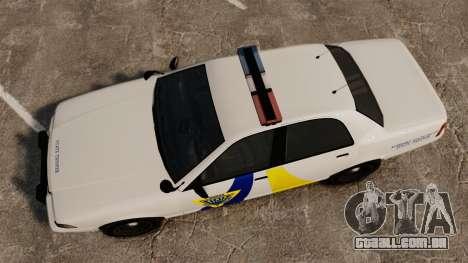 GTA V Police Vapid Cruiser Alderney state para GTA 4 vista direita