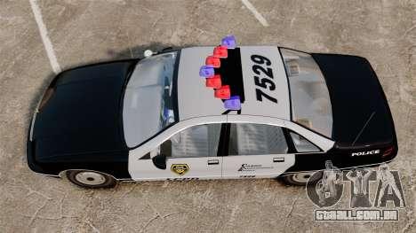 Chevrolet Caprice Police 1991 v2.0 LCPD para GTA 4 vista direita
