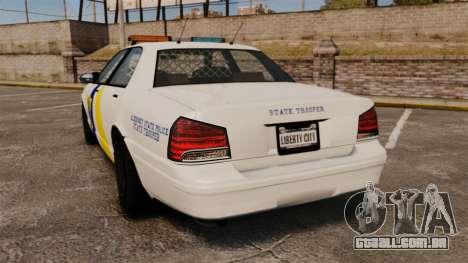 GTA V Police Vapid Cruiser Alderney state para GTA 4 traseira esquerda vista