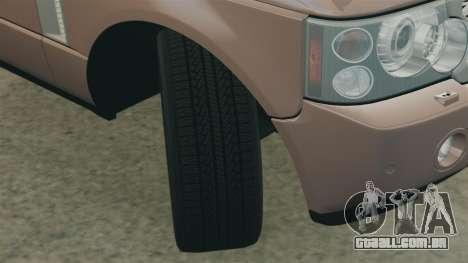 Range Rover Supercharged para GTA 4 vista lateral