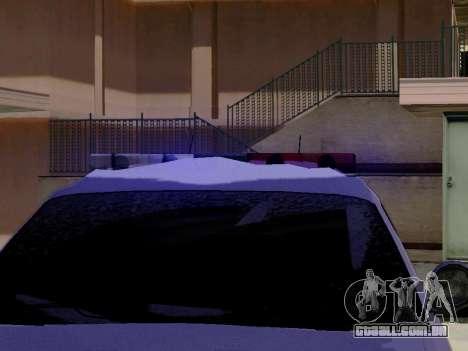 Yanton norte polícia Esperanto de GTA 5 para GTA San Andreas vista traseira