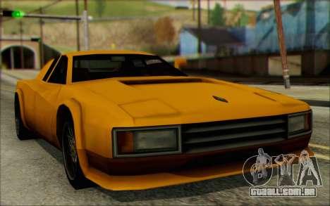 VC Cheetah para GTA San Andreas traseira esquerda vista