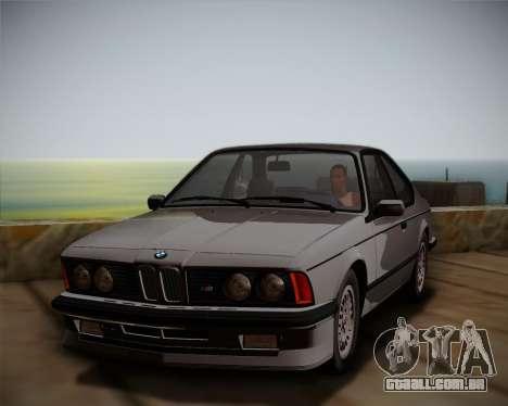 BMW E24 M635 1984 para GTA San Andreas vista direita