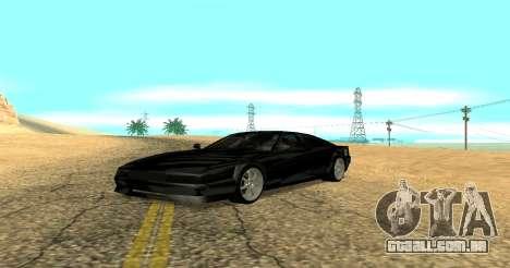 Sheetah Restyle para GTA San Andreas esquerda vista