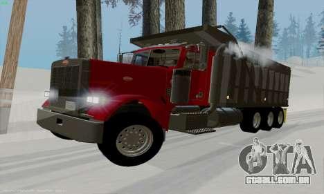 Peterbilt 379 Dump Truck para GTA San Andreas esquerda vista