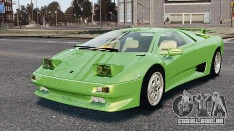 Lamborghini Diablo VT 1994 para GTA 4 vista inferior
