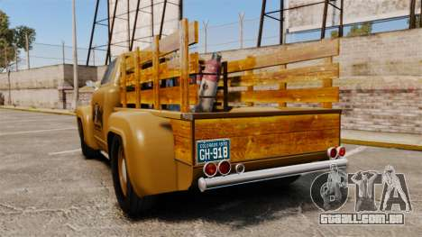 Hot Rod Truck Gas Monkey para GTA 4 traseira esquerda vista