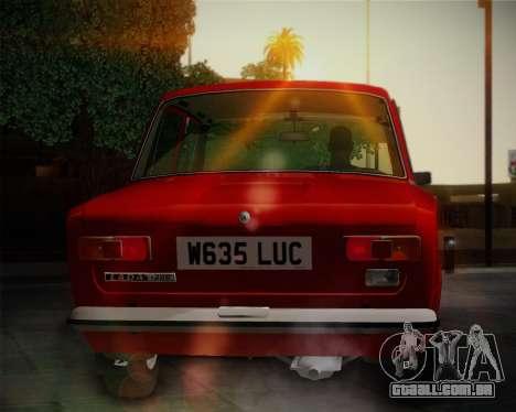 VAZ 21011 exportação para GTA San Andreas traseira esquerda vista