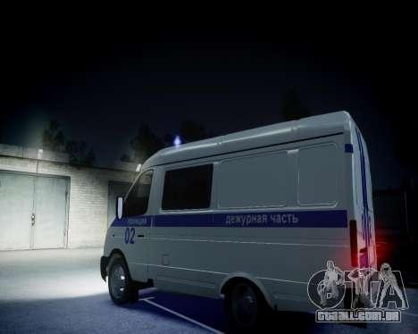 Polícia de gazela 2705 para GTA 4 vista interior