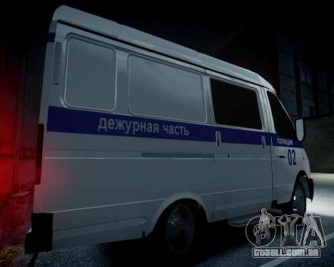Polícia de gazela 2705 para GTA 4 vista de volta