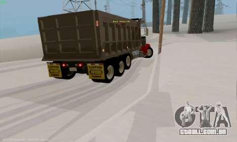 Peterbilt 379 Dump Truck para GTA San Andreas vista direita