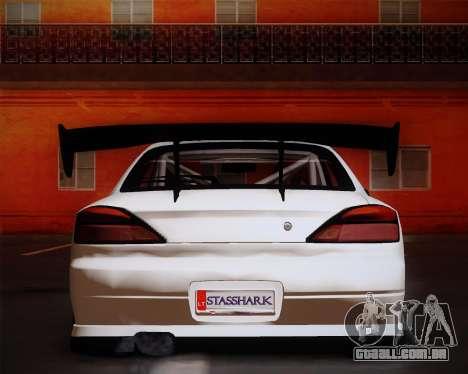 Nissan Silvia S15 JDM para GTA San Andreas vista traseira