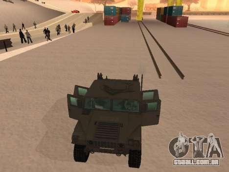 Hummer H1 do jogo Resident Evil 5 para vista lateral GTA San Andreas