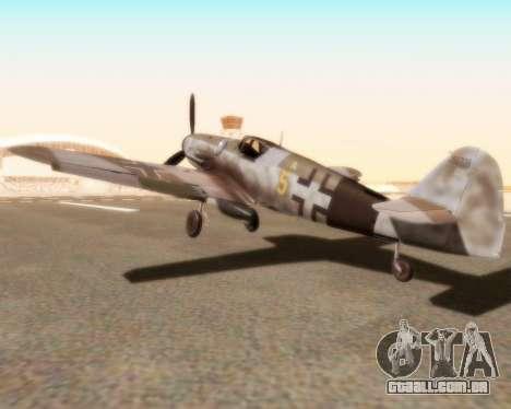 Bf-109 G10 para GTA San Andreas esquerda vista