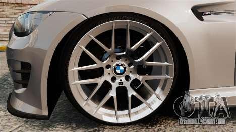 BMW M3 E92 GTS 2010 para GTA 4 vista de volta