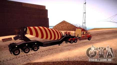 Cement Mixer para GTA San Andreas traseira esquerda vista
