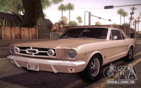 Ford Mustang GT 289 Hardtop Coupe 1965 para GTA San Andreas