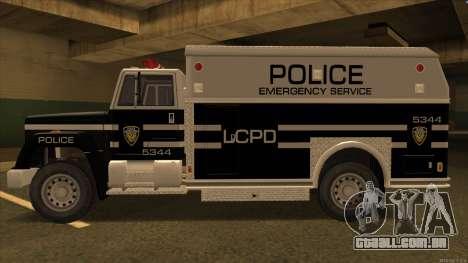 Enforcer HD from GTA 3 para GTA San Andreas traseira esquerda vista