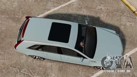 Cadillac CTS SW 2010 para GTA 4 vista direita