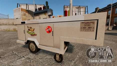 Novas texturas de carrinhos de cachorro-quente para GTA 4 por diante tela