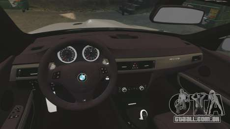BMW M3 E92 GTS 2010 para GTA 4 vista interior