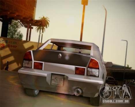 GTA III Kuruma para GTA San Andreas vista traseira