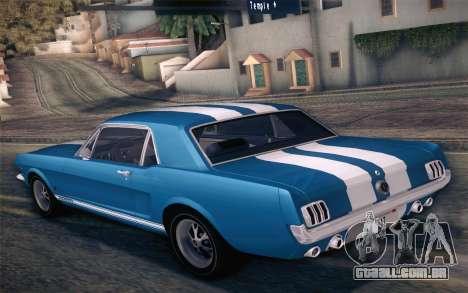 Ford Mustang GT 289 Hardtop Coupe 1965 para o motor de GTA San Andreas