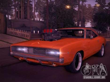 Dodge Charger RT V2 para GTA San Andreas esquerda vista