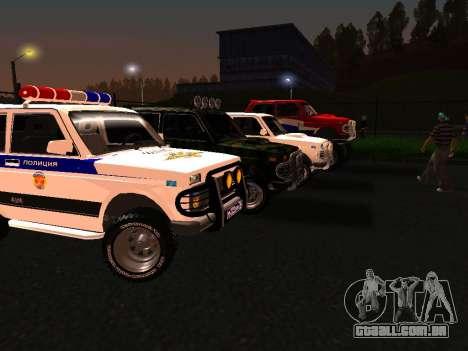 VAZ 212140 polícia para GTA San Andreas esquerda vista