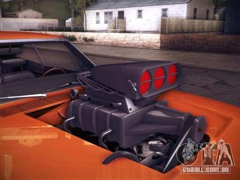Dodge Charger RT V2 para GTA San Andreas vista traseira
