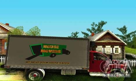GMC Top Kick C4500 Dryvan House Movers 2008 para GTA San Andreas vista traseira