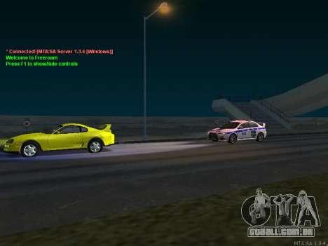 Mitsubishi Lancer X polícia para vista lateral GTA San Andreas
