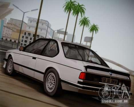 BMW E24 M635 1984 para GTA San Andreas traseira esquerda vista