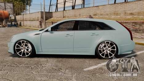 Cadillac CTS SW 2010 para GTA 4 esquerda vista